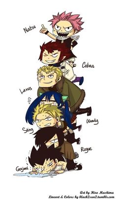 Poor Rogue and Gajeel