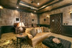 Home Theater Room Paint Color Design, Pictures, Remodel, Decor and Ideas - page 7 Wall Painting Decor, House Painting, Interior Painting, Wall Art, Diy Design, Interior Design, Design Ideas, Interior Walls, Design Trends