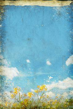 FANTASY WORLD BEACH TREE YELLOW FLOWERS Canvas Wall Art F301 UNFRAMED-ROLLED