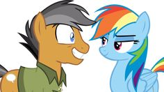 Quibble Pants and Rainbow Dash