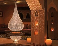 Beautiful handcrafted lamp: The artistry of Yahya.