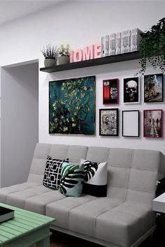 trendy decor home office apartment therapy Decor, Small Living Room Decor, Interior, Living Room Decor Apartment, Home Remodeling, Cheap Home Decor, Home Decor, Apartment Decor, Trendy Home