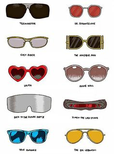 Famous sunglasses featured in films. They should have included Fear and Loathing in Las Vegas.
