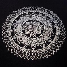 https://flic.kr/p/nUyYaW | Another Kolam/Rangoli Inspired Mandala