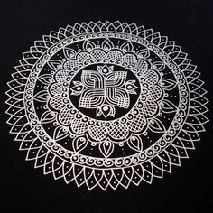 https://flic.kr/p/nUyYaW | Another Kolam/Rangoli Inspired Mandala