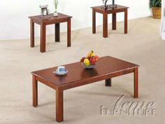 """3pc Pack Wooden Coffee/End Table #AC 012163 by HPP. $349.99. End table: 22"""" x 18"""" x 19""""H. Coffee table: 48"""" x 24"""" x 16""""H. Wooden Coffee/End Table. 3pc Coffee/End Table Set. brand new"""