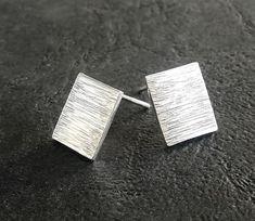 Minimalist Stud Earrings / Simple Stud Earrings / Handmade Earrings / Gift for Her / Casual Silver Earrings / Minimalist Studs Simple Earrings, Silver Earrings, Stud Earrings, Earrings Handmade, Handmade Jewelry, Unique Jewelry, Handmade Gifts, Minimalist Earrings, Cufflinks