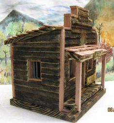 Building A House Discover Old Western Style Jail Birdhouse Jail Bars, A Frame Cabin Plans, Old Western Towns, Screened Gazebo, Homemade Bird Houses, Tree House Plans, Modern Headboard, Red Geraniums, Old Farm Houses