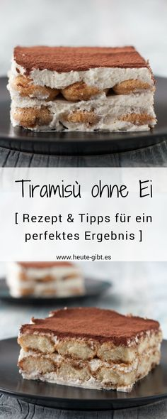 Tiramisu without an egg- Recipe for the Italian classic Tiramisù without egg. The cold dessert is perfect for summer and very easy to prepare. There are also tips for a perfect result. Italian Cookie Recipes, Italian Cookies, Italian Desserts, Egg Recipes, Appetizer Recipes, Italian Pastries, Cold Desserts, Cooking On The Grill