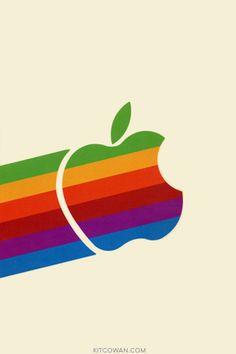 80's Apple Logo on our computers we used in school