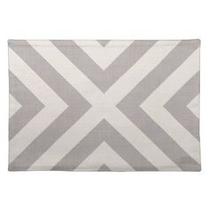Farmhouse X Gray Linen Cloth Placemat - rustic gifts ideas customize personalize