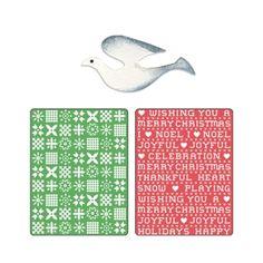 Sizzix Textured Impressions Embossing Folders w/Bonus Sizzlits Die - Nordic Sweater & Cross Stitch Set $10.99