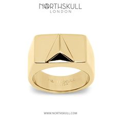 Add a sophisticated edge to your attire this season with our luxurious gold Signet Ring. This special piece integrates our distinctive arrow design in a subtle 3D composition bringing striking detail with a conceptual twist.   Available now at Northskull.com [Worldwide Shipping] #Luxury #Jewelry #MensFashion