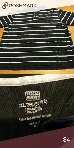 Polo shirt Men's polo shirt. Black and gray. Size 2x. Excellent condition. Smoke free home. Faded Glory Shirts Polos