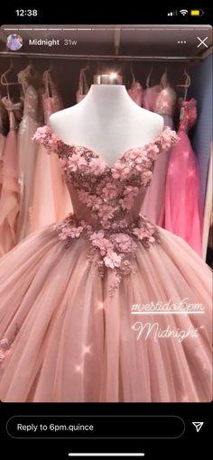 Prom Dresses For Teens, Top Wedding Dresses, Stylish Dresses For Girls, Pink Prom Dresses, Elegant Dresses, Beautiful Dresses, Xv Dresses, Quince Dresses, Ball Dresses