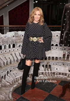 Fabulously Spotted: Kylie Minogue Wearing Dolce & Gabbana - Dolce & Gabbana London Collections Men Event  - http://www.becauseiamfabulous.com/2014/01/kylie-minogue-wearing-dolce-gabbana-dolce-gabbana-london-collections-men-event/