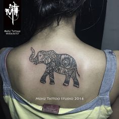 Elephant back Tattoo done by Mahesh Amin at Mehz Tattoo Studio.  Hope you guys like this too :) Your Views, Comments and Shares would be appreciated ! For more information visit and like us at - Mehz Tattoo Studio . Mumbai. India www.mehztattoostudio.com