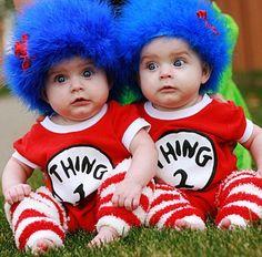 Thing one and thing two. So cute!!