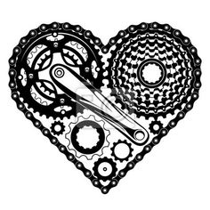Naklejka czesci rowerowe kier - okolica - forma • PIXERS.pl