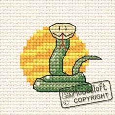At The Zoo Snake Cross Stitch Kit 00A-004atz