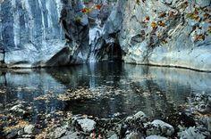 Fall on river Rječina near city Rijeka, Croatia