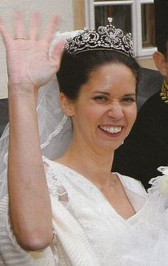 Hohenberg Tiara worn by Princess Marie-Therese of Hohenberg at her 2007 wedding