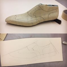 Pattern demo. Wingtip Oxford, one of the most elegant model. #marcellmrsan #theshoemaker #shoemaking #pattern #leather