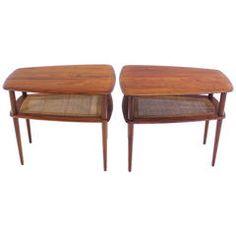 Pair of Danish Modern Solid Teak End or Side Tables Designed by Peter Hvidt
