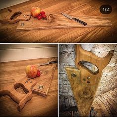 Something a little bit different to serve your food on! Great for cheese and crackers or antipasti this quirky saw platter would certainly get the guests talking! Finished with an original carpenters saw handle and in your choice of wood finishes! All boards are finished with a food
