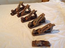 Vintage Smoothing Planes.Job lot of six.Stanley,Rolson,Greenwood and others.