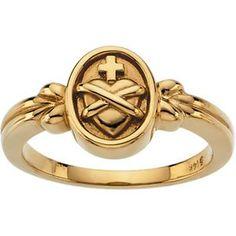 14K Yellow Gold Sacred Heart Ring - (Size 7.0) GoldenMine http://www.amazon.com/dp/B009UXNI16/ref=cm_sw_r_pi_dp_McSVub1ERC5CM