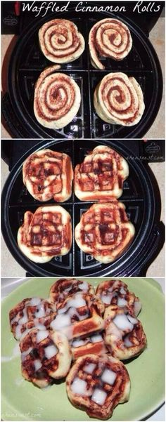 Smart way to keep the icing on your cinnamon rolls and get it down in them rather than just a little on the top! Love this!