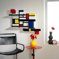 STYROFOAM™ Mondrian Wall Art #wallart #diy