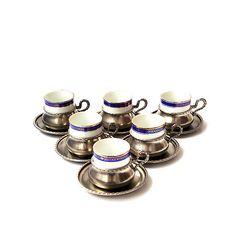 Vintage expresso cup, coffee cup, expresso set, set of 6, Bavaria , Porcelain on Etsy, Sold