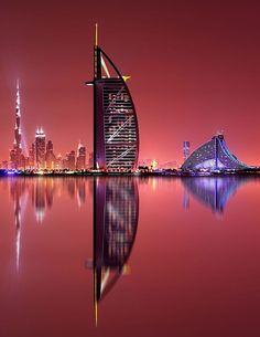 Dubai at sunset #GrouponGetaways #city #cities #buildings #photography