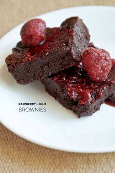 #brownies      Read more - http://www.stylemepretty.com/2013/06/26/raspberry-mint-brownies-from-alexis-lopez/