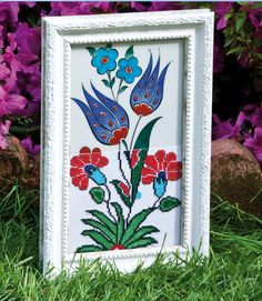 My İznik Chine Ceramic and Cross Stitch Design