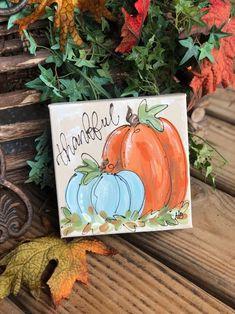 Pumpkin Canvas Painting, Autumn Painting, Autumn Art, Diy Painting, Fall Canvas Art, Canvas Canvas, Pumpkin Art, Pumpkin Crafts, Halloween Painting