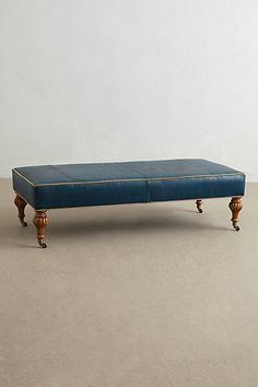 Leather Bench Ottoman #anthrofave