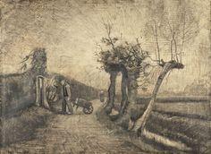 Weg achter de pastorietuin te Nuenen, Vincent van Gogh, 1863 - 1890