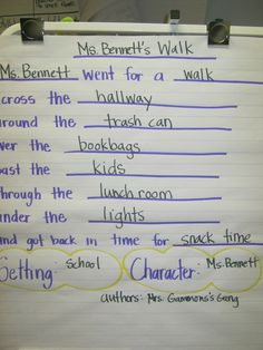 Smart Kids: Writing Prompt for Rosie's Walk by Pat Hutchins Talk 4 Writing, Kids Writing, Writing Prompts, Kindergarten Anchor Charts, Kindergarten Writing, Kindergarten Classroom, Eyfs Activities, Book Activities, Eyfs Classroom
