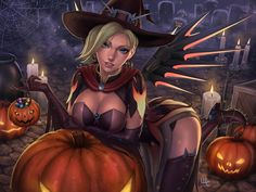 Witch Mercy - Overwatch (2 versions available), Mirco Cabbia on ArtStation at https://www.artstation.com/artwork/dbNDW