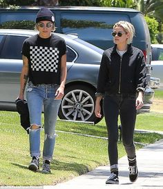 Laid-back: The Twilight star went low-key for the outing, sporting a zip-up black jacket and skintight, black jeans