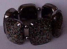 Black Brown Leopard White Clear Animal Print Bracelet