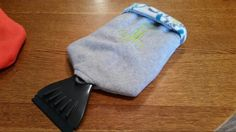 Custom embroidered ice scraper mitt