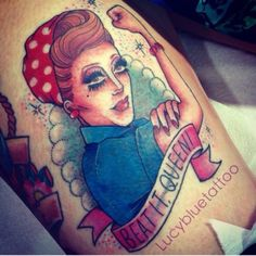 bianca del rio beat it queen tattoo