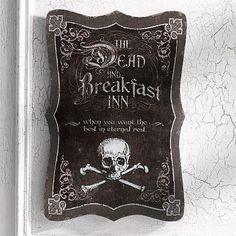 """Dead and Breakfast"" Halloween Wall Art"