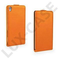 Winther (Orange) Sony Xperia Z3 Fodral (Äkta Läder)