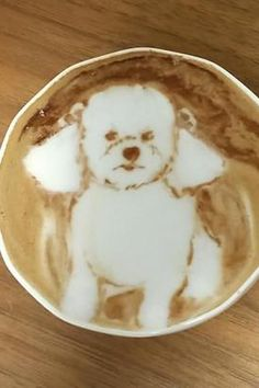 precious dog Latte Art