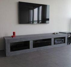 Beton ( look ) tv meubel - Lilly is Love Custom Furniture, Furniture Design, Concrete Furniture, Decoration, Wood Crafts, Cabinet, Living Room, Bedroom, Storage